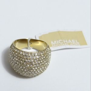 NWT Michael Kors Brilliance Crystal Pave Dome Ring